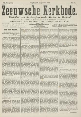 Zeeuwsche kerkbode, weekblad gewijd aan de belangen der gereformeerde kerken/ Zeeuwsch kerkblad 1918-08-23