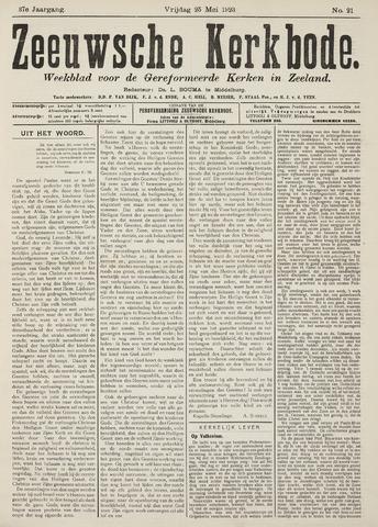 Zeeuwsche kerkbode, weekblad gewijd aan de belangen der gereformeerde kerken/ Zeeuwsch kerkblad 1923-05-25
