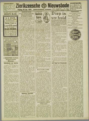 Zierikzeesche Nieuwsbode 1924-01-25