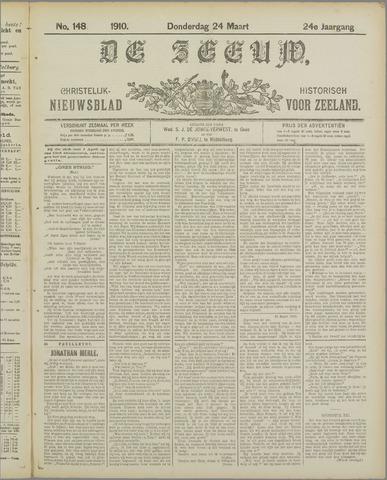 De Zeeuw. Christelijk-historisch nieuwsblad voor Zeeland 1910-03-24