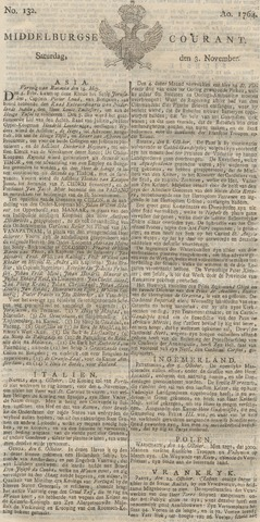 Middelburgsche Courant 1764-11-03