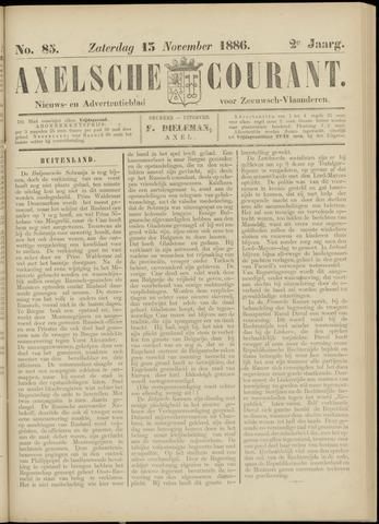 Axelsche Courant 1886-11-13