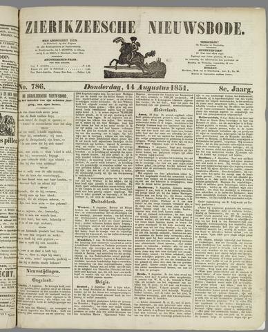 Zierikzeesche Nieuwsbode 1851-08-14