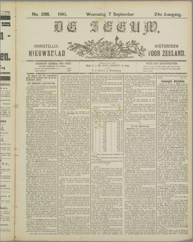 De Zeeuw. Christelijk-historisch nieuwsblad voor Zeeland 1910-09-07