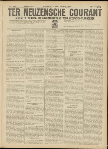 Ter Neuzensche Courant. Algemeen Nieuws- en Advertentieblad voor Zeeuwsch-Vlaanderen / Neuzensche Courant ... (idem) / (Algemeen) nieuws en advertentieblad voor Zeeuwsch-Vlaanderen 1939-09-11