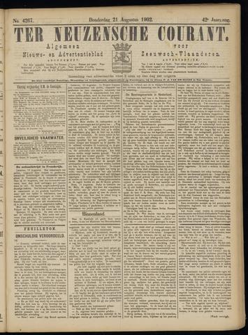 Ter Neuzensche Courant. Algemeen Nieuws- en Advertentieblad voor Zeeuwsch-Vlaanderen / Neuzensche Courant ... (idem) / (Algemeen) nieuws en advertentieblad voor Zeeuwsch-Vlaanderen 1902-08-21