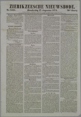 Zierikzeesche Nieuwsbode 1874-08-13