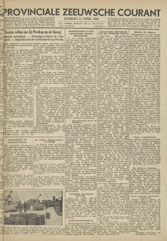 Provinciale Zeeuwse Courant 1944-04-11
