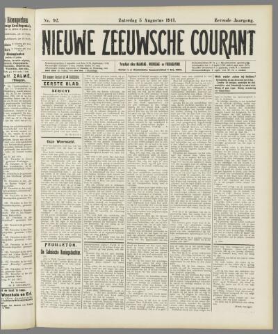 Nieuwe Zeeuwsche Courant 1911-08-05