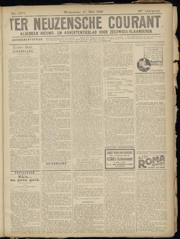 Ter Neuzensche Courant. Algemeen Nieuws- en Advertentieblad voor Zeeuwsch-Vlaanderen / Neuzensche Courant ... (idem) / (Algemeen) nieuws en advertentieblad voor Zeeuwsch-Vlaanderen 1929-05-22