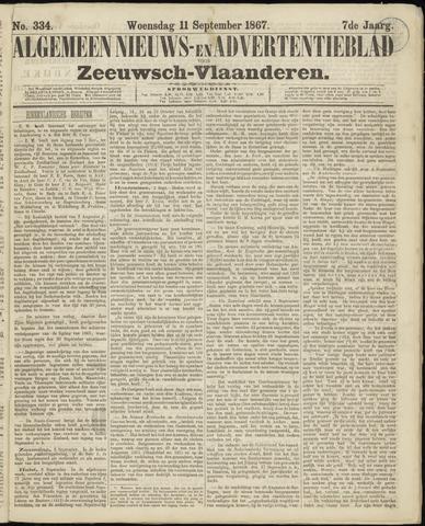 Ter Neuzensche Courant. Algemeen Nieuws- en Advertentieblad voor Zeeuwsch-Vlaanderen / Neuzensche Courant ... (idem) / (Algemeen) nieuws en advertentieblad voor Zeeuwsch-Vlaanderen 1867-09-11
