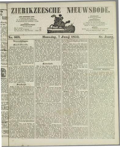 Zierikzeesche Nieuwsbode 1852-06-07