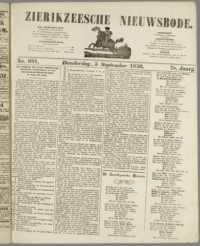 Zierikzeesche Nieuwsbode 1850-09-05