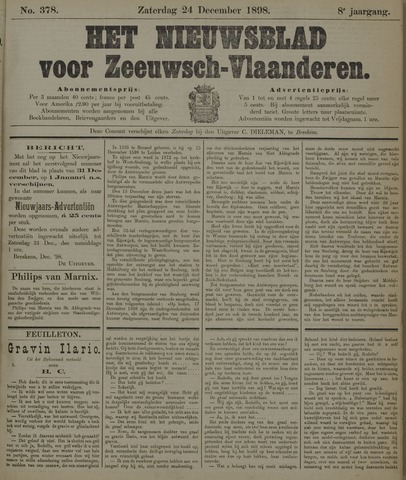 Nieuwsblad voor Zeeuwsch-Vlaanderen 1898-12-24