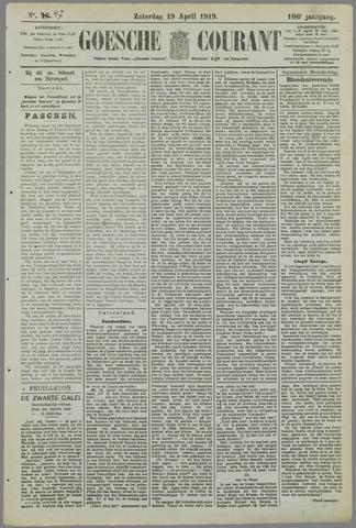 Goessche Courant 1919-04-19