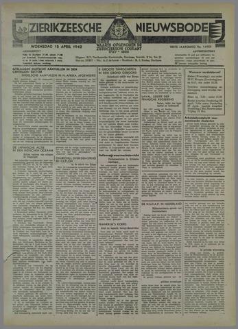 Zierikzeesche Nieuwsbode 1942-04-15