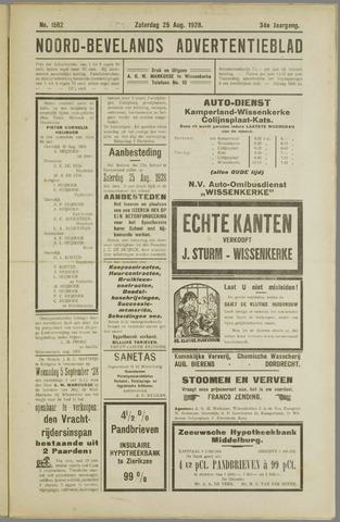Noord-Bevelands Nieuws- en advertentieblad 1928-08-25