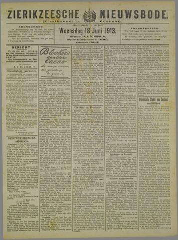 Zierikzeesche Nieuwsbode 1913-06-18