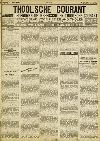 Ierseksche en Thoolsche Courant 1933-06-02