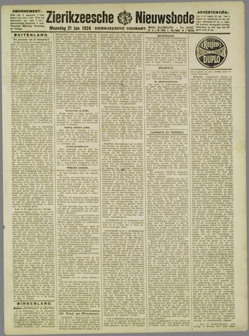 Zierikzeesche Nieuwsbode 1924-01-21