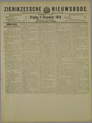 Zierikzeesche Nieuwsbode 1914-12-11
