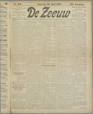 De Zeeuw. Christelijk-historisch nieuwsblad voor Zeeland 1916-04-29