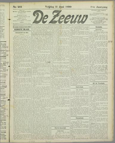 De Zeeuw. Christelijk-historisch nieuwsblad voor Zeeland 1920-06-11