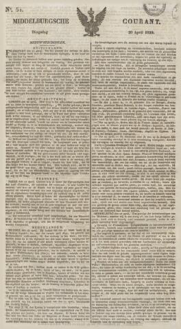 Middelburgsche Courant 1829-04-28