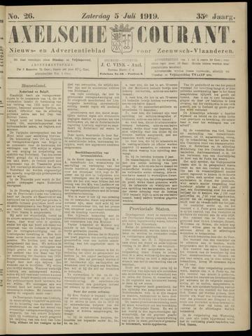 Axelsche Courant 1919-07-05
