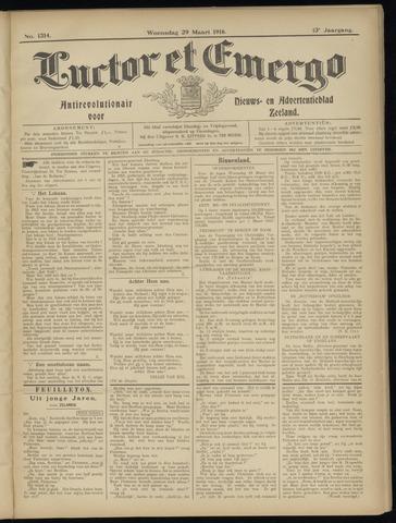 Luctor et Emergo. Antirevolutionair nieuws- en advertentieblad voor Zeeland / Zeeuwsch-Vlaanderen. Orgaan ter verspreiding van de christelijke beginselen in Zeeuwsch-Vlaanderen 1916-03-29