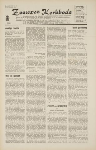 Zeeuwsche kerkbode, weekblad gewijd aan de belangen der gereformeerde kerken/ Zeeuwsch kerkblad 1966-09-02