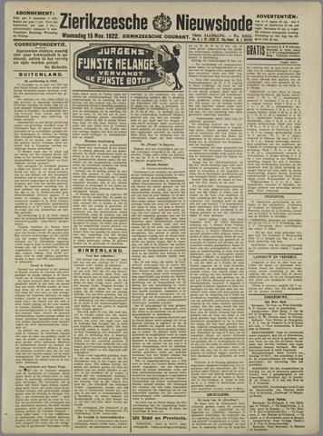 Zierikzeesche Nieuwsbode 1922-11-15
