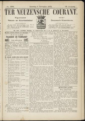 Ter Neuzensche Courant. Algemeen Nieuws- en Advertentieblad voor Zeeuwsch-Vlaanderen / Neuzensche Courant ... (idem) / (Algemeen) nieuws en advertentieblad voor Zeeuwsch-Vlaanderen 1879-11-01