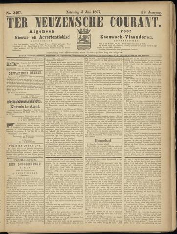 Ter Neuzensche Courant. Algemeen Nieuws- en Advertentieblad voor Zeeuwsch-Vlaanderen / Neuzensche Courant ... (idem) / (Algemeen) nieuws en advertentieblad voor Zeeuwsch-Vlaanderen 1897-06-05
