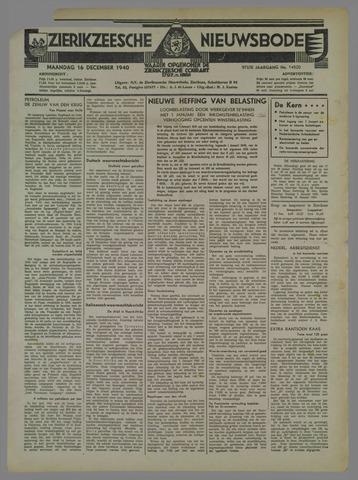 Zierikzeesche Nieuwsbode 1940-12-16