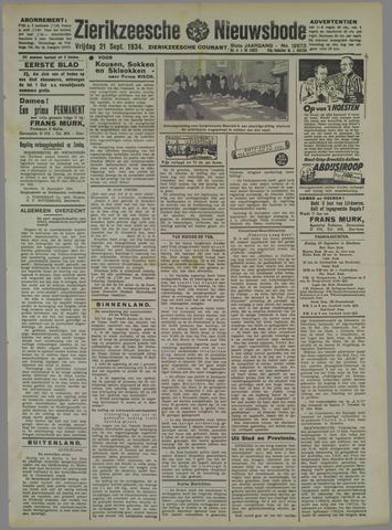 Zierikzeesche Nieuwsbode 1934-09-21