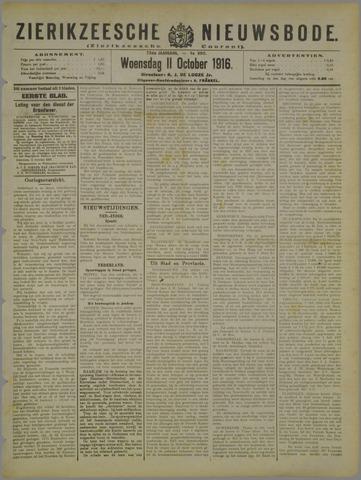 Zierikzeesche Nieuwsbode 1916-10-11