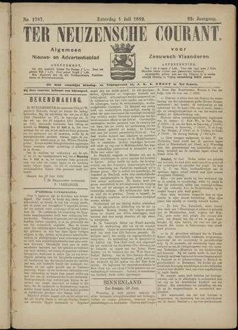 Ter Neuzensche Courant. Algemeen Nieuws- en Advertentieblad voor Zeeuwsch-Vlaanderen / Neuzensche Courant ... (idem) / (Algemeen) nieuws en advertentieblad voor Zeeuwsch-Vlaanderen 1882-07-01