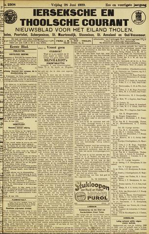 Ierseksche en Thoolsche Courant 1929-06-28