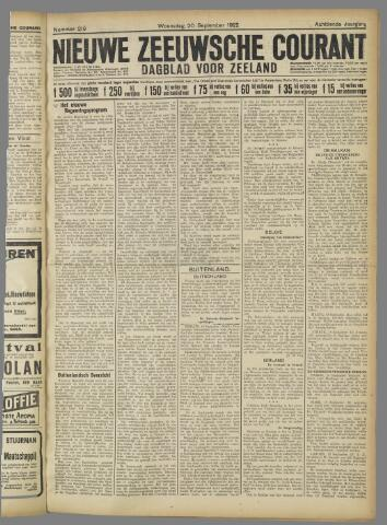 Nieuwe Zeeuwsche Courant 1922-09-20