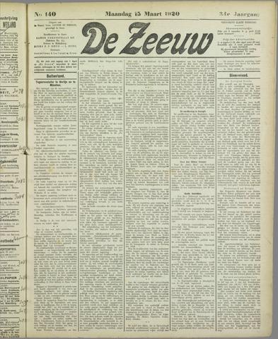 De Zeeuw. Christelijk-historisch nieuwsblad voor Zeeland 1920-03-15