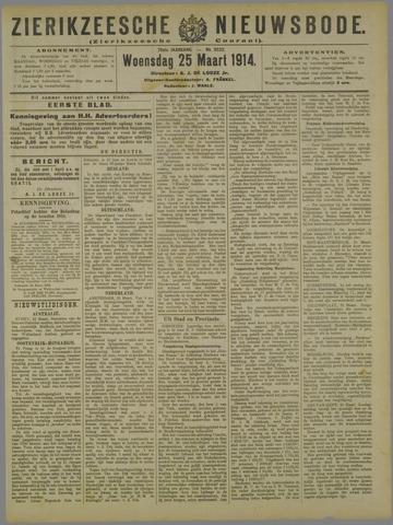Zierikzeesche Nieuwsbode 1914-03-25