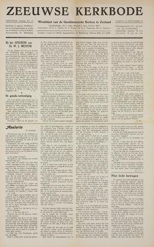 Zeeuwsche kerkbode, weekblad gewijd aan de belangen der gereformeerde kerken/ Zeeuwsch kerkblad 1957-09-13