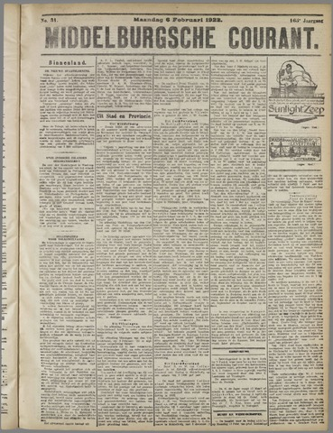 Middelburgsche Courant 1922-02-06