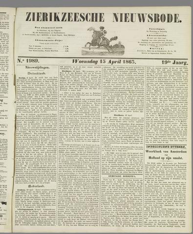 Zierikzeesche Nieuwsbode 1863-04-15