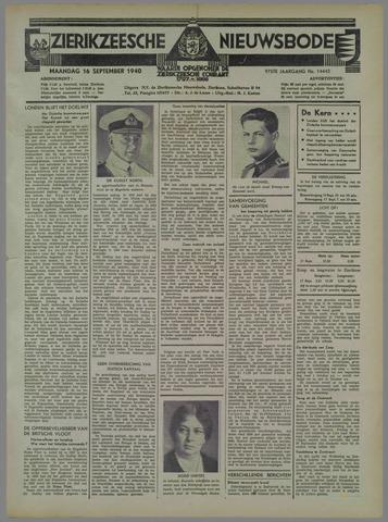 Zierikzeesche Nieuwsbode 1940-09-16