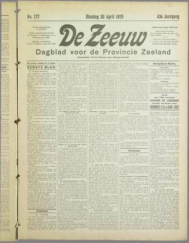 De Zeeuw. Christelijk-historisch nieuwsblad voor Zeeland 1929-04-30