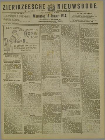 Zierikzeesche Nieuwsbode 1914-01-14