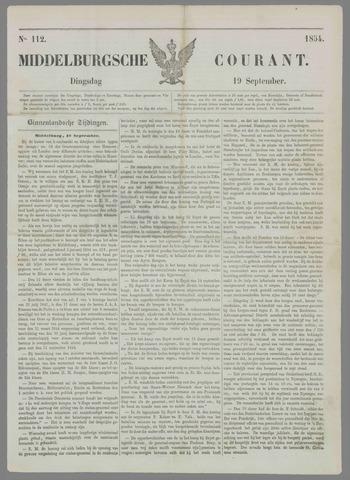 Middelburgsche Courant 1854-09-19