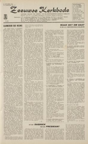 Zeeuwsche kerkbode, weekblad gewijd aan de belangen der gereformeerde kerken/ Zeeuwsch kerkblad 1962-10-26